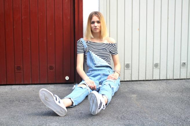 fashionblogger münchen latzhose