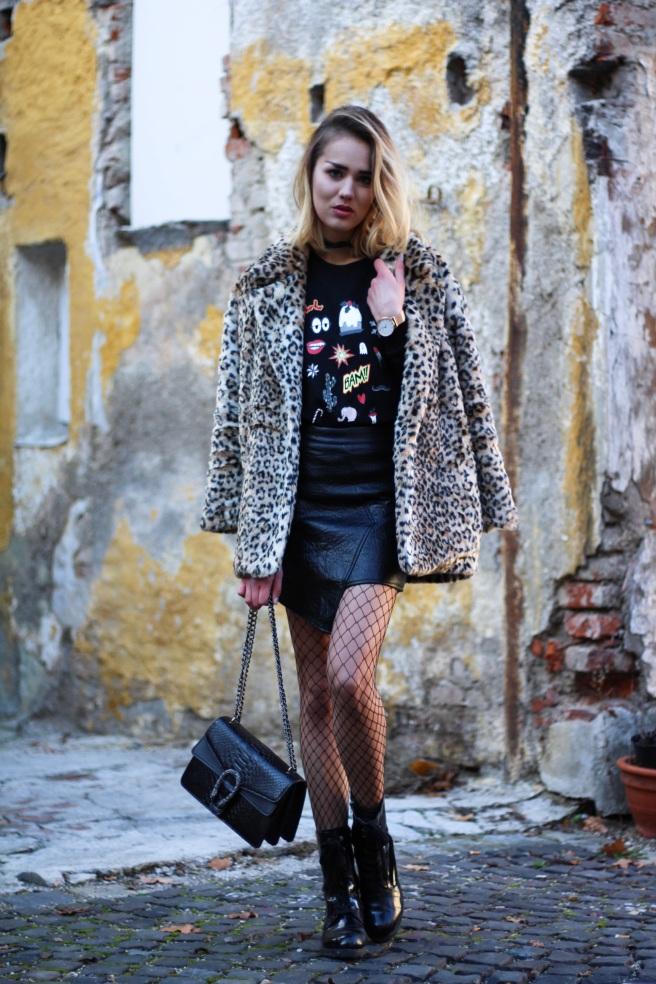 dutsche Blogger Fashionblog München Modeblog Leopardenmantel Leo Coat