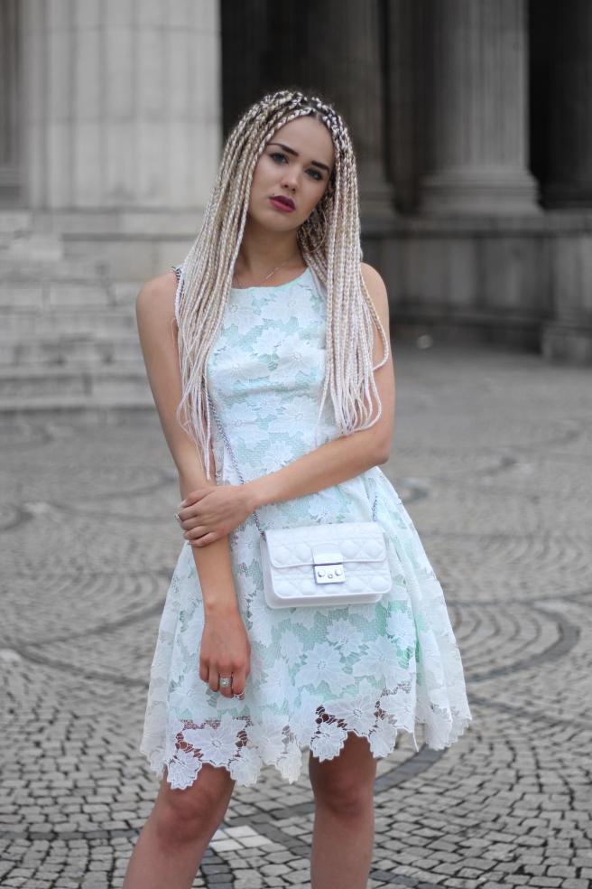 PROM DRESS Abschlussball Kleid Abiball Outfit Orsay Kleider Sommer 2017 Pastell Spitzenkleider Häkelkleider